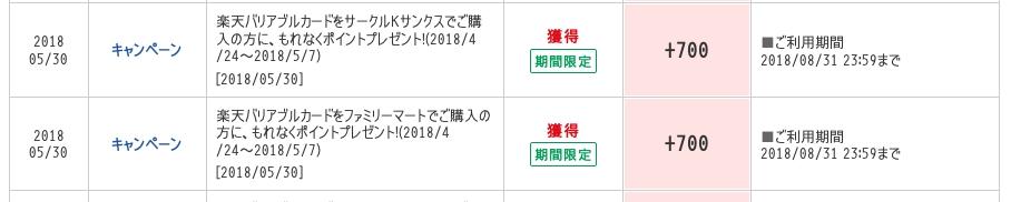 [8月21日(火)〜9月3日(月)まで]楽天バリアブルカード、10001円以上購入で700ポイント付与のキャンペーン[ファミリーマート/サンクス]